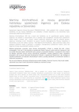 Martina Kirchrathová je novou generální ředitelkou společnosti