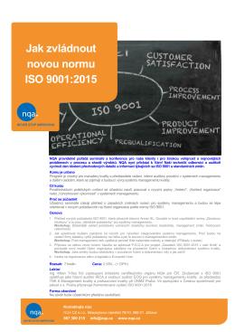 Jak zvládnout novou normu ISO 9001:2015