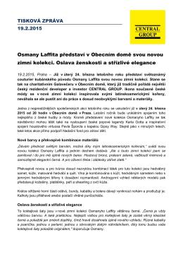 Osmany Laffita představí v Obecním domě svou novou