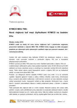 Tisková zpráva KYMCO MXU 700i: Nová vlajková loď mezi