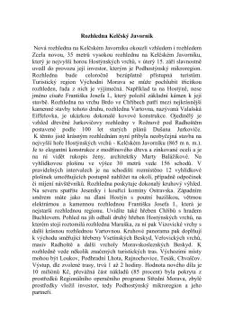 Rozhledna Kelčský Javorník Nová rozhledna na Kelčském