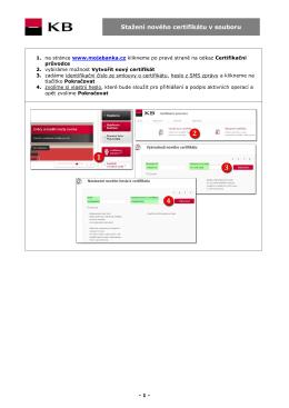Stažení nového certifikátu v souboru