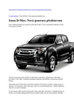 Isuzu D-Max: Nová generace představena - Isuzu Motors