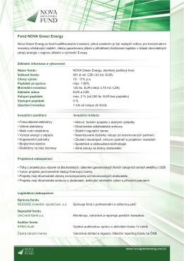 Fond NOVA Green Energy