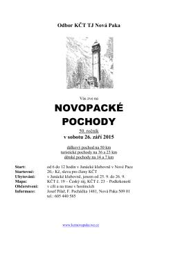 Odbor KČT TJ Nová Paka