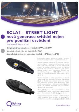 SCLA1 – STREET LIGHT nová generace svítidel nejen