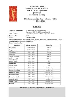 propozice - SKL Nové Město na Moravě