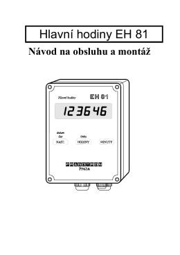 Hlavní hodiny EH 81