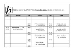 Rozvrh hodin TO 2015-16