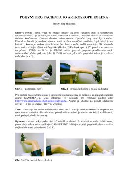 Pokyny pro rehabilitaci po artroskopii kolena