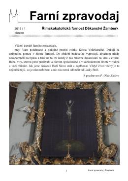 Farní zpravodaj - Farnost Žamberk