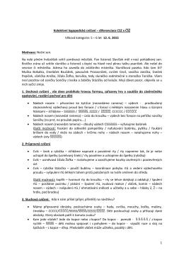 diferenciace CSZ x ČŠŽ Věková kategorie: 5 – 6 let 12. 6. 2015