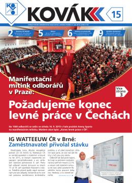 Požadujeme konec levné práce v Čechách