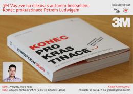 3M Vás zve na diskusi s autorem bestselleru Konec prokrastinace