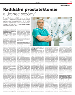 """Radikální prostatektomie a """"konec sezóny"""""""