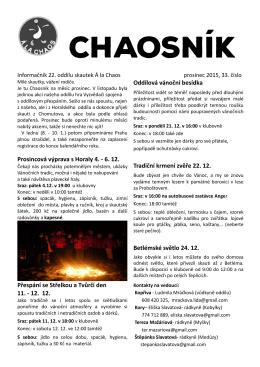 Chaosník 33, prosinec 2015