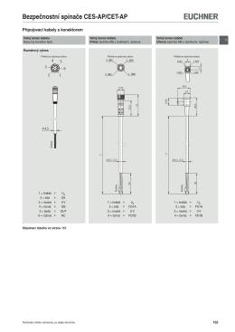 Připojovací materiál pro bezp. spínače CES-AP