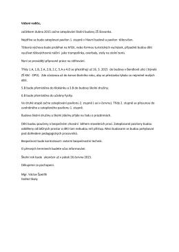 Informace o zateplování školy