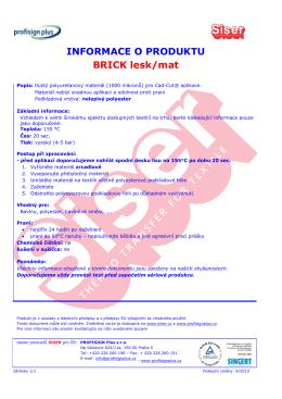 BRICK lesk/mat