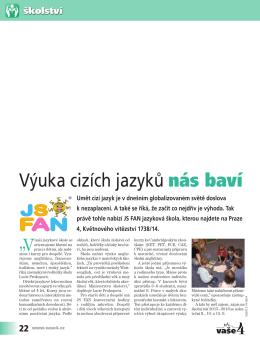 článek - Jazyková škola JS FAN