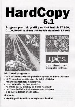 Program pro tisk grafiky na tiskárnách BT 100, D 100, K6304 a