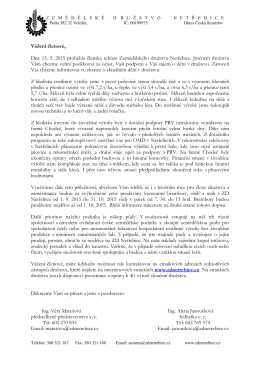 Dopis členové 2015 - Zemědělské družstvo Netřebice