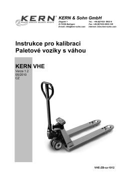 Instrukce pro kalibraci Paletové vozíky s váhou