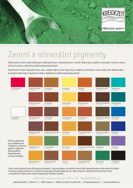 Vzorník Pigmenty v PDF