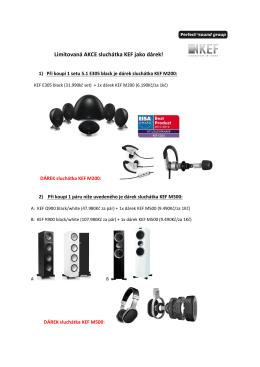 Limitovaná AKCE sluchátka KEF jako dárek!