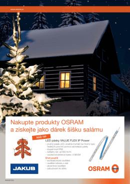 Nakupte produkty OSRAM a získejte jako dárek šišku salámu