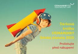 Dárková knížka ODMAMINKY Dětská planeta 2015