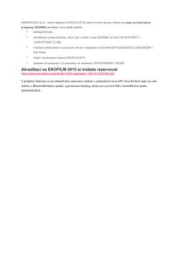 TZ Akreditace na 41. ročník EKOFILM 2015