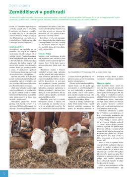 Zemědělství v podhradí, Zemědělský týdeník 11/2015