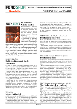 Newsletter FOND SHOP 17-2015