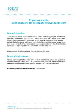 SODAT software Případová studie
