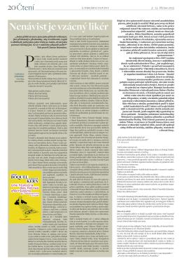 3. kapitola v březnovém vydání Literárních novin