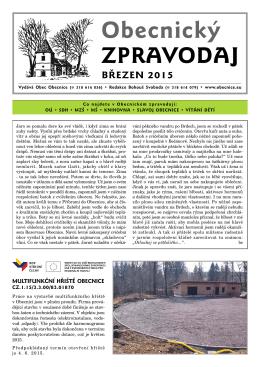 Stáhnout zpravodaj – březen 2015