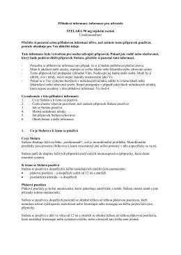 Příbalová informace: informace pro uživatele STELARA 90 mg