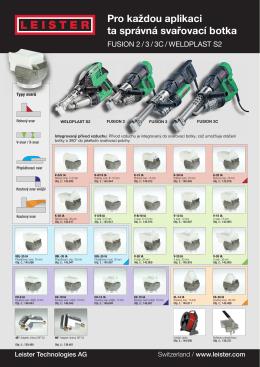 Pro každou aplikaci ta správná svařovací botka