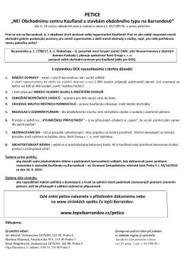 Petice proti Kauflandu (základní text)