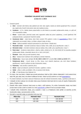 Pravidla a podmínky - X