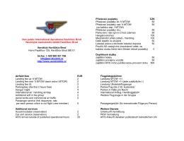 Price list - Aeroklub Havlíčkův Brod