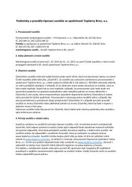 Podmínky a pravidla tipovací soutěže se společností Teplárny Brno