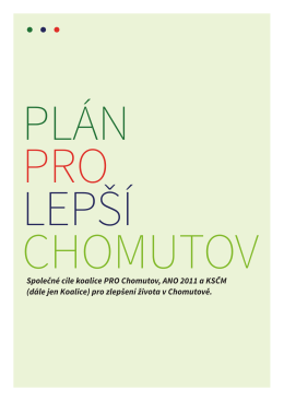 Plán pro lepší Chomutov