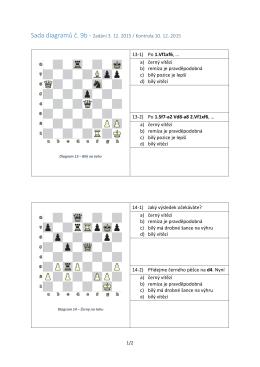 a) černý vítězí b) remíza je
