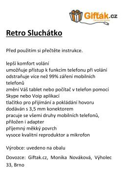 Retro Sluchátko