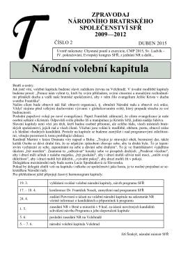 Zpravodaj 2/2015 - Sekulární františkánský řád