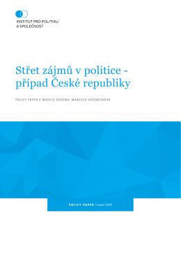 Střet zájmů v politice - případ České republiky
