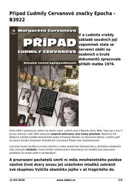 Případ Ľudmily Cervanové značky Epocha - B3922