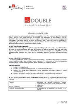 Informace o pojištění - Broker Consulting, as